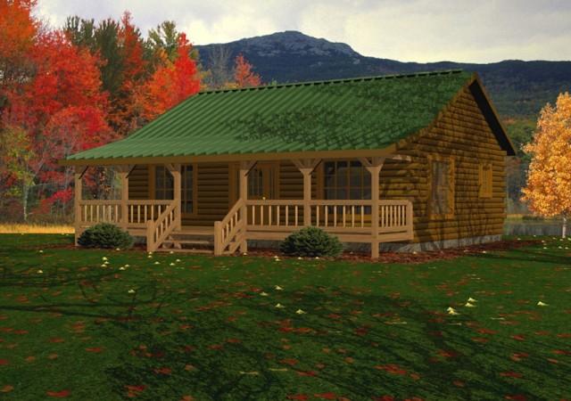 SingleStory Log Homes Floor Plans  Kits Battle Creek Log Homes