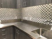 commercial kitchen backsplash