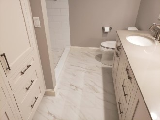 American Olean tile on Bathroom floor