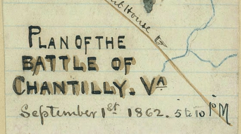 Plan of the Battle of Chantilly Va  American