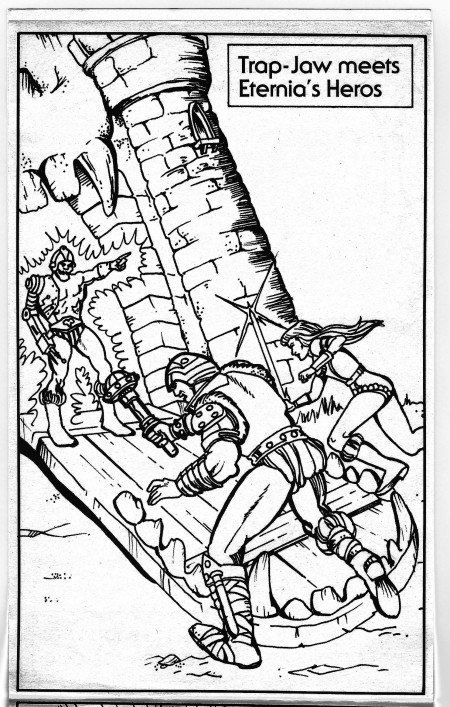 """1983 Masters of the Universe """"Character Coloring Book"""" Pages"""