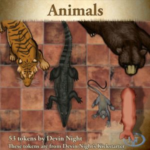 Devin Night's Token Pack #34: Animals