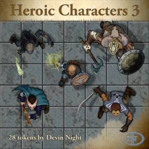 Devin Night's Token Pack #47: Heroic Characters 3