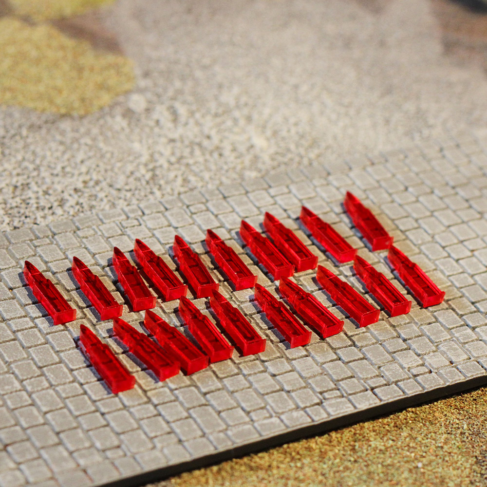 laser cut acrylic pin markers for bolt action