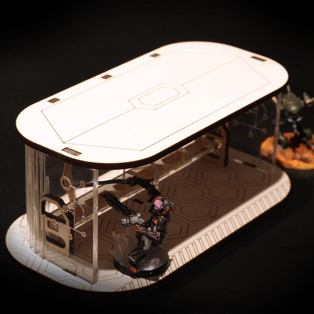 infinity sci fi terrain with figure