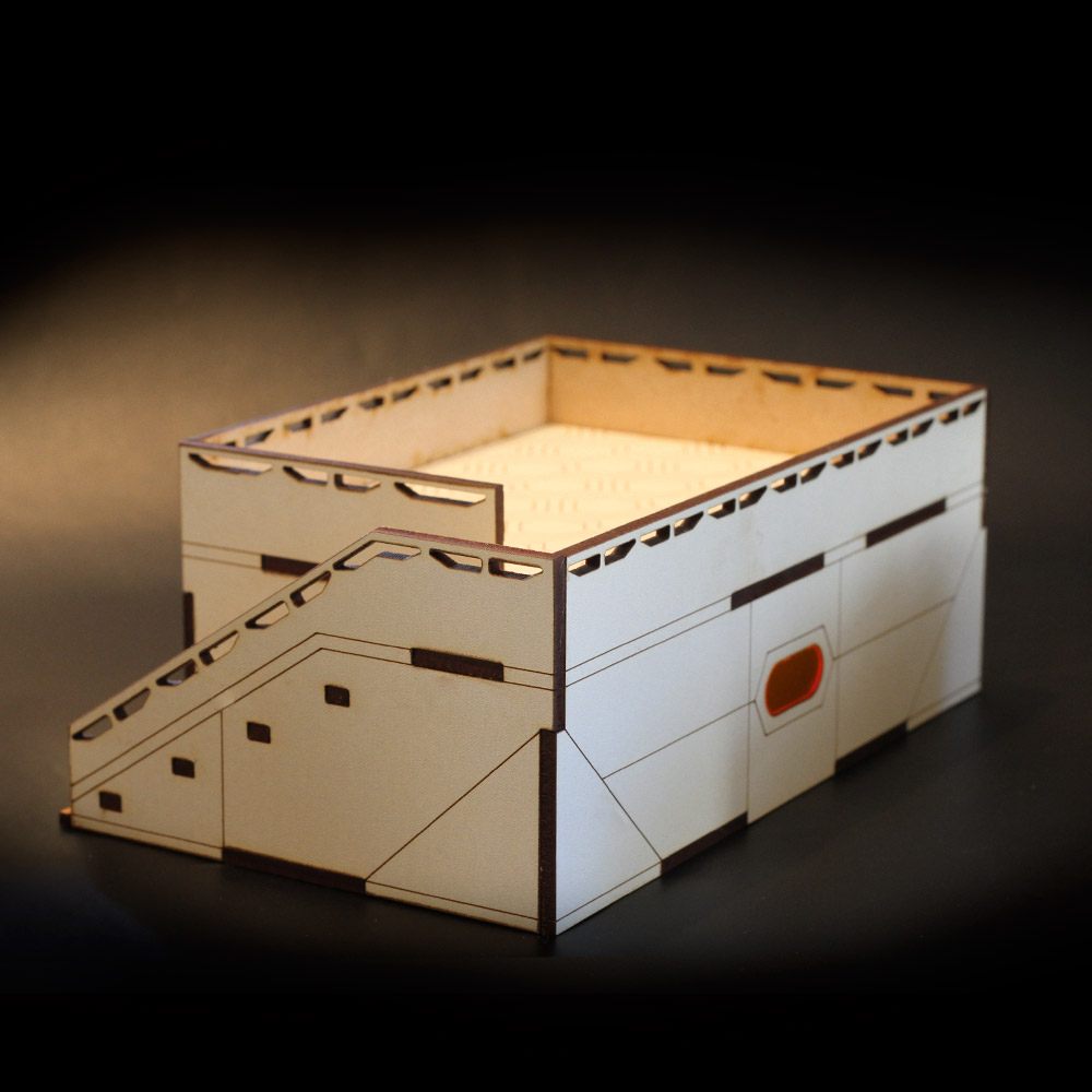 mdf laser cut building for wargaming