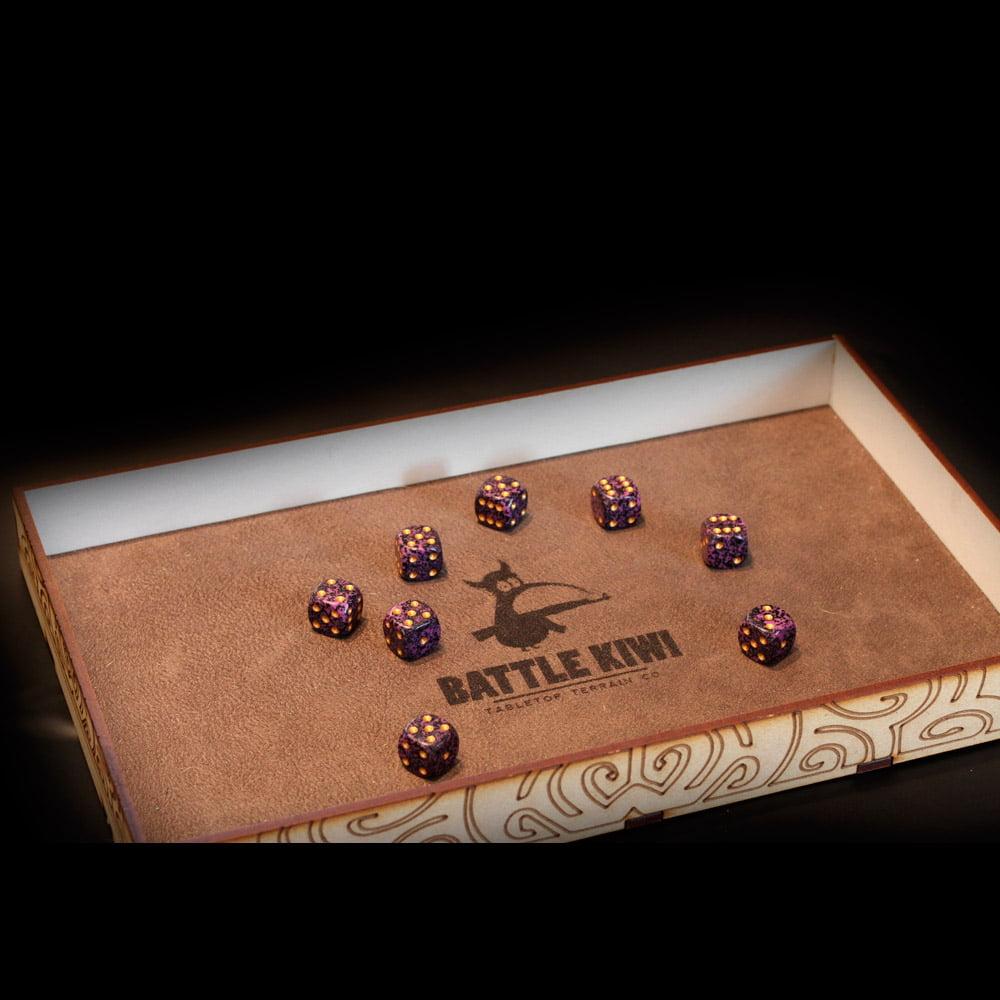 custom laser mdf dice tray