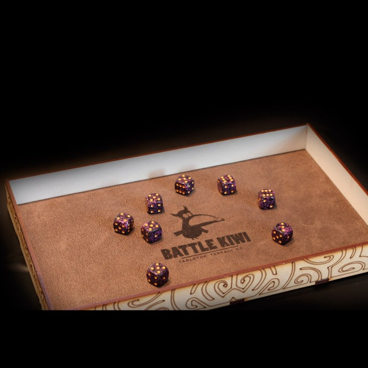 custom laser mdf dice tray