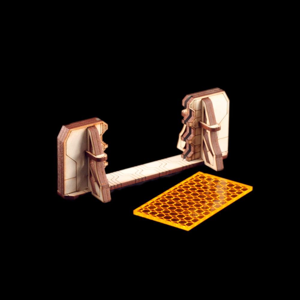 laser cut shield wall terrain for infinity