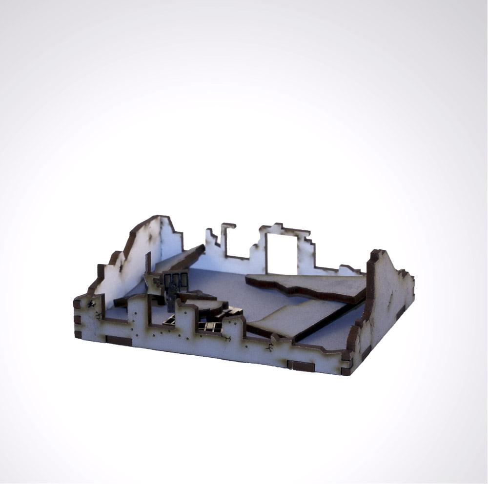 Stalingrad 15mm city Ruins model building