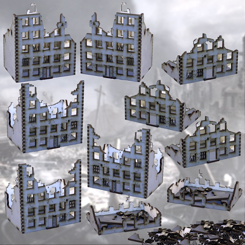 stalingrad city ruins mdf model bundle deal