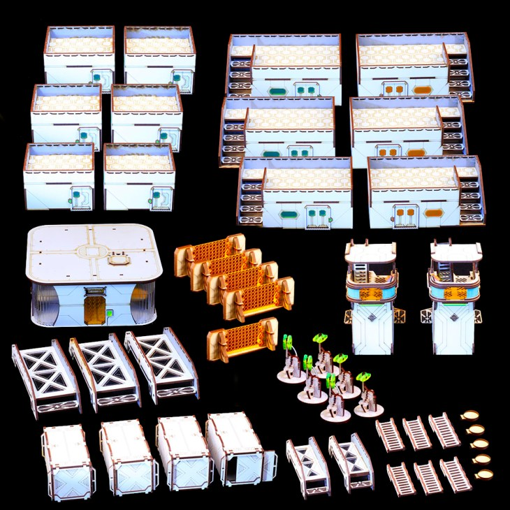 whole table deal of mdf terrain for infinity the game