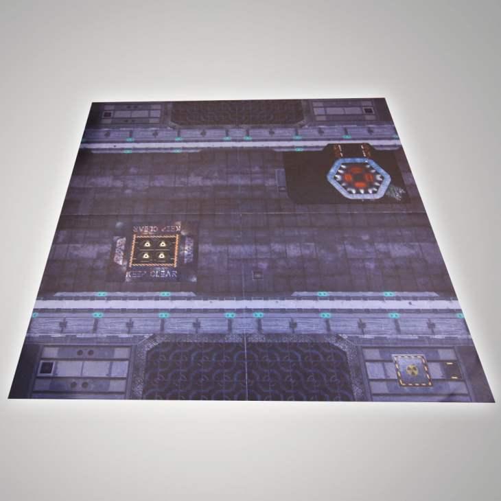metroplois battle mat for sicfi wargames and skirmish games