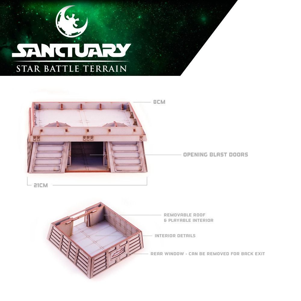 details of star wars legion bunker building