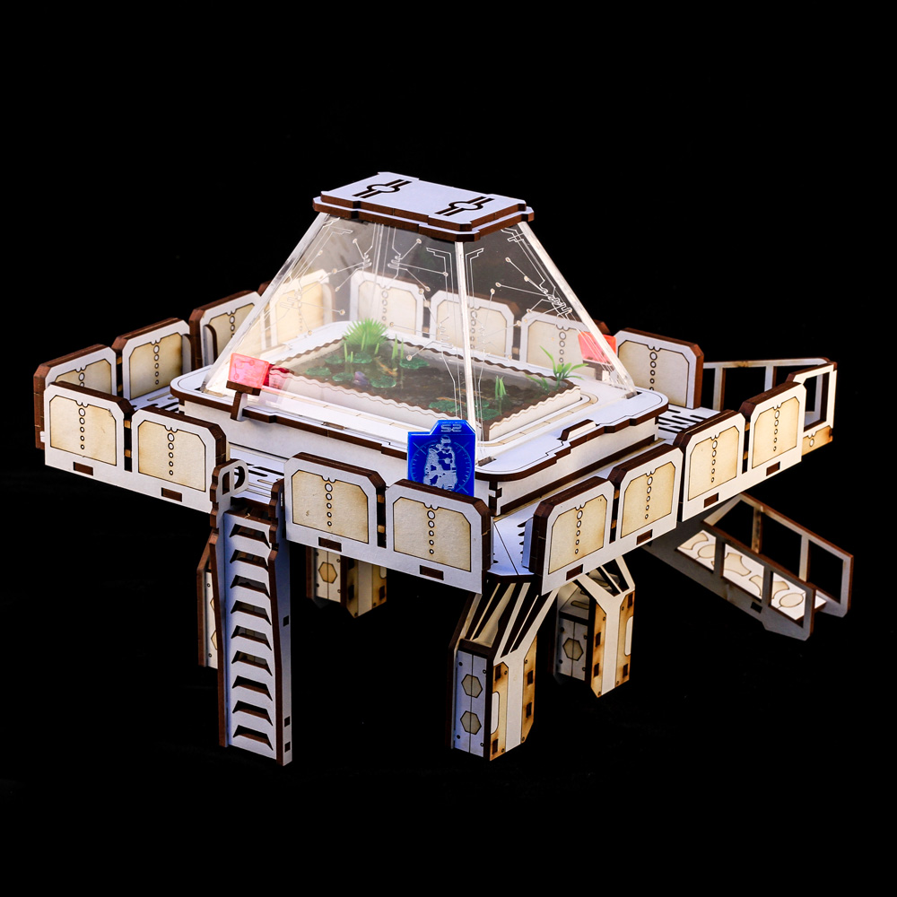 rear view of lookout platform for tabletop gaming