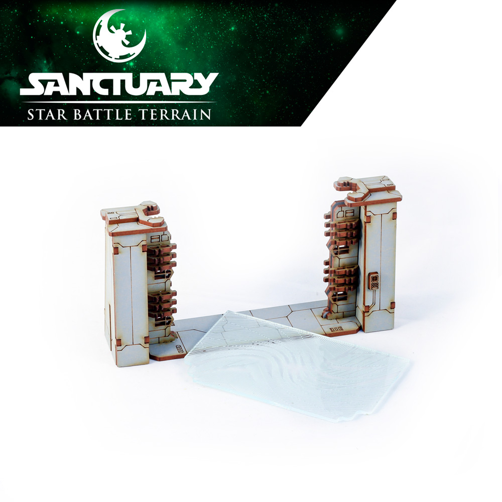 opening force field gate for sci fi wargames