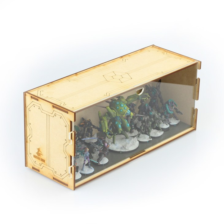 miniatures disply box for sci fi tabletop games