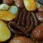 תפוחי אדמה ומרגז בתבנית אחת