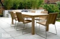 Tripoli contemporary teak garden chairs - Bau Outdoors