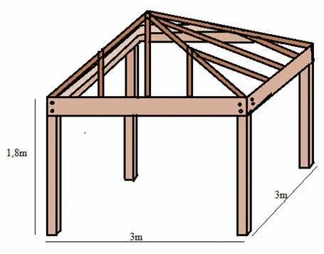 Pavillon Bauzeichnung