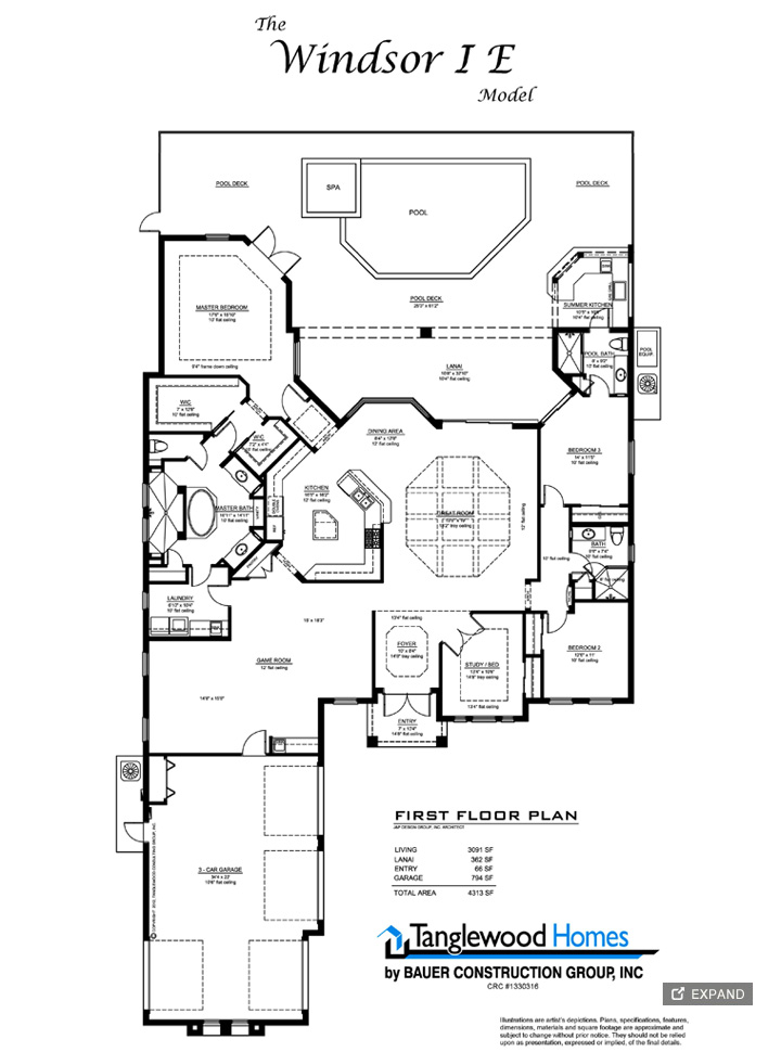 Home Construction Plans Windsor I-E Ft Myers Fl