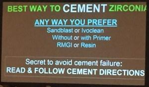 Cement or bond zirconia Gordon's tips