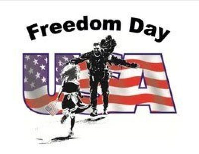 Freedom Day logo for veterans.