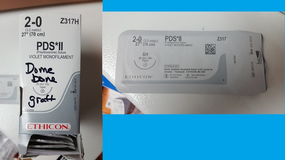 dome barrier suture PDA polydioxanone