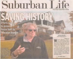 Image of saving Warren Wheaton's house.