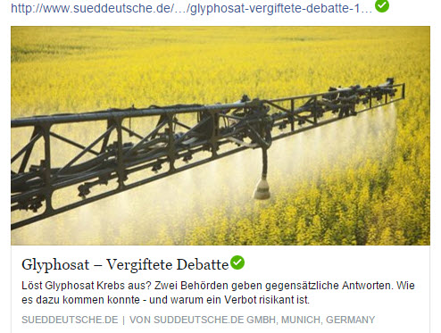 Baumerkt-Glyphosat