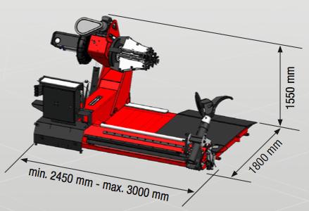 HD 1300 Corghi - rozmery