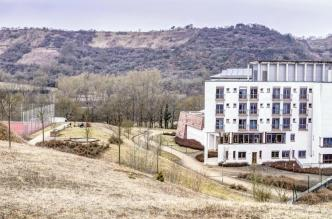 Drei Burgen Klinik Bauphase