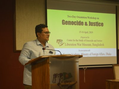 Two-Day Orientation Workshop on 'Genocide & Justice' by Barrister Tapas Kanti Baul