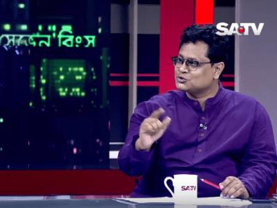 Barrister Tapas Kanti Baul at  SATV