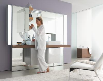 Spieglein Spiegel Spiegelschrank Mirrorwall an der Wand