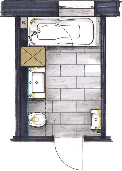 Kleines Schlauchbad ganz gro  Bad modernisieren  sanieren