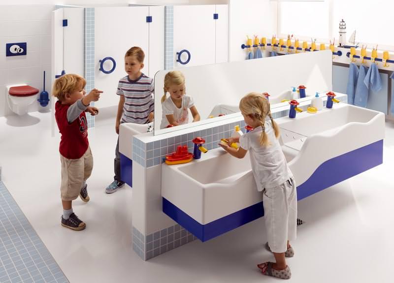 4Bambini  neue Waschrinne fr Kindergrten