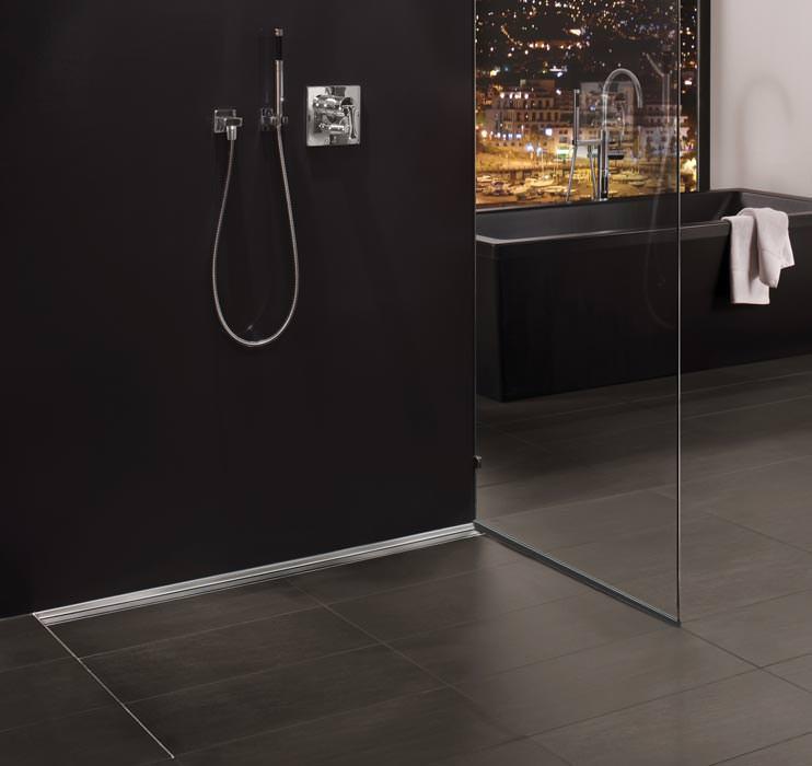 FliesenprofilGlashalteleiste von Blanke fr Trennwnde bodengleicher Duschen