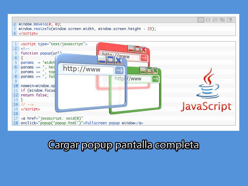 popup pantalla completa