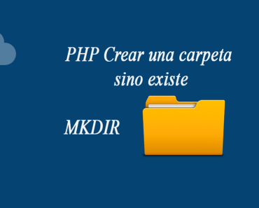 PHP Crear una carpeta