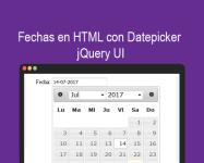 Fechas en HTML con Datepicker jQuery UI