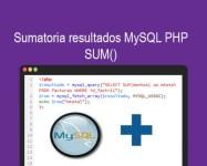Sumatoria resultados MySQL PHP