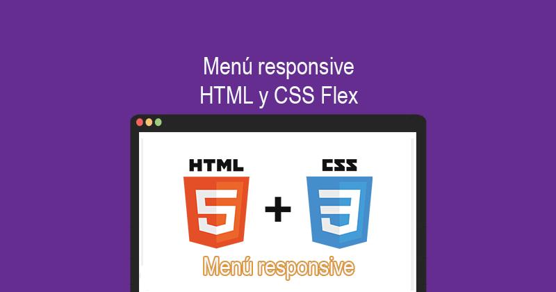 Descargar menú responsive HTML y CSS Flex