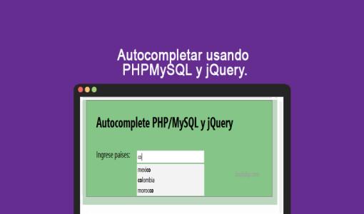Autocompletar usando PHPMySQL y jQuery