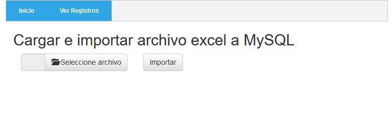 Guardar excel en Mysql