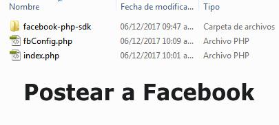 Postear a Facebook
