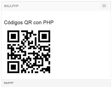 Codigo QR con PHP