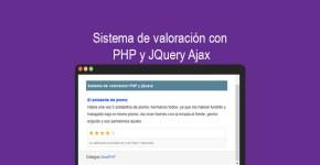 Sistema de valoración con PHP y JQuery Ajax