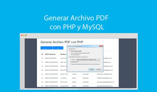 Generar Archivo PDF con PHP y MySQLi