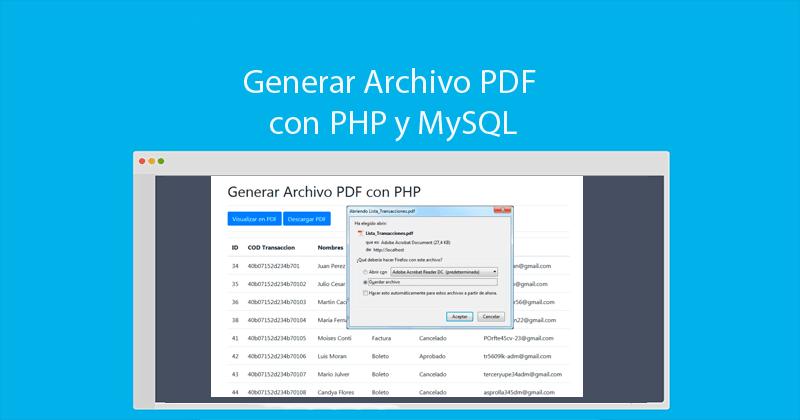 crear pdf con php y mysql fpdf